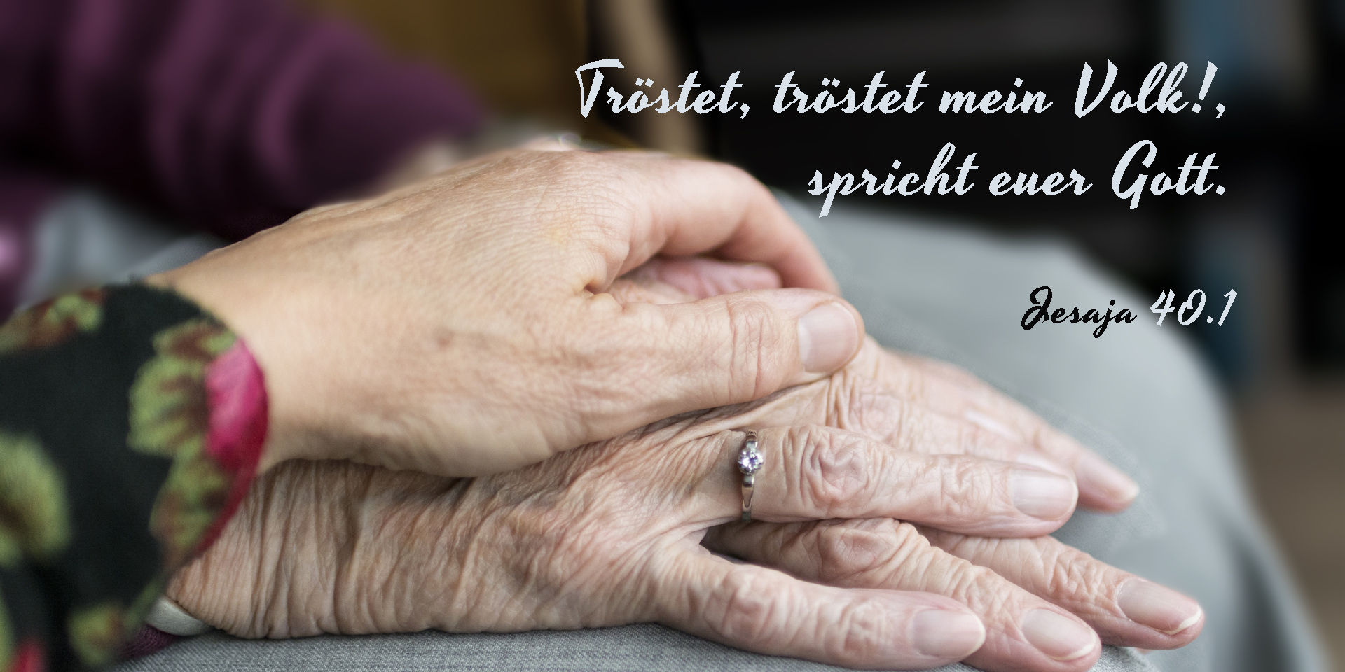 Tröstende Hand, Jeaja 40,1,© pixabay