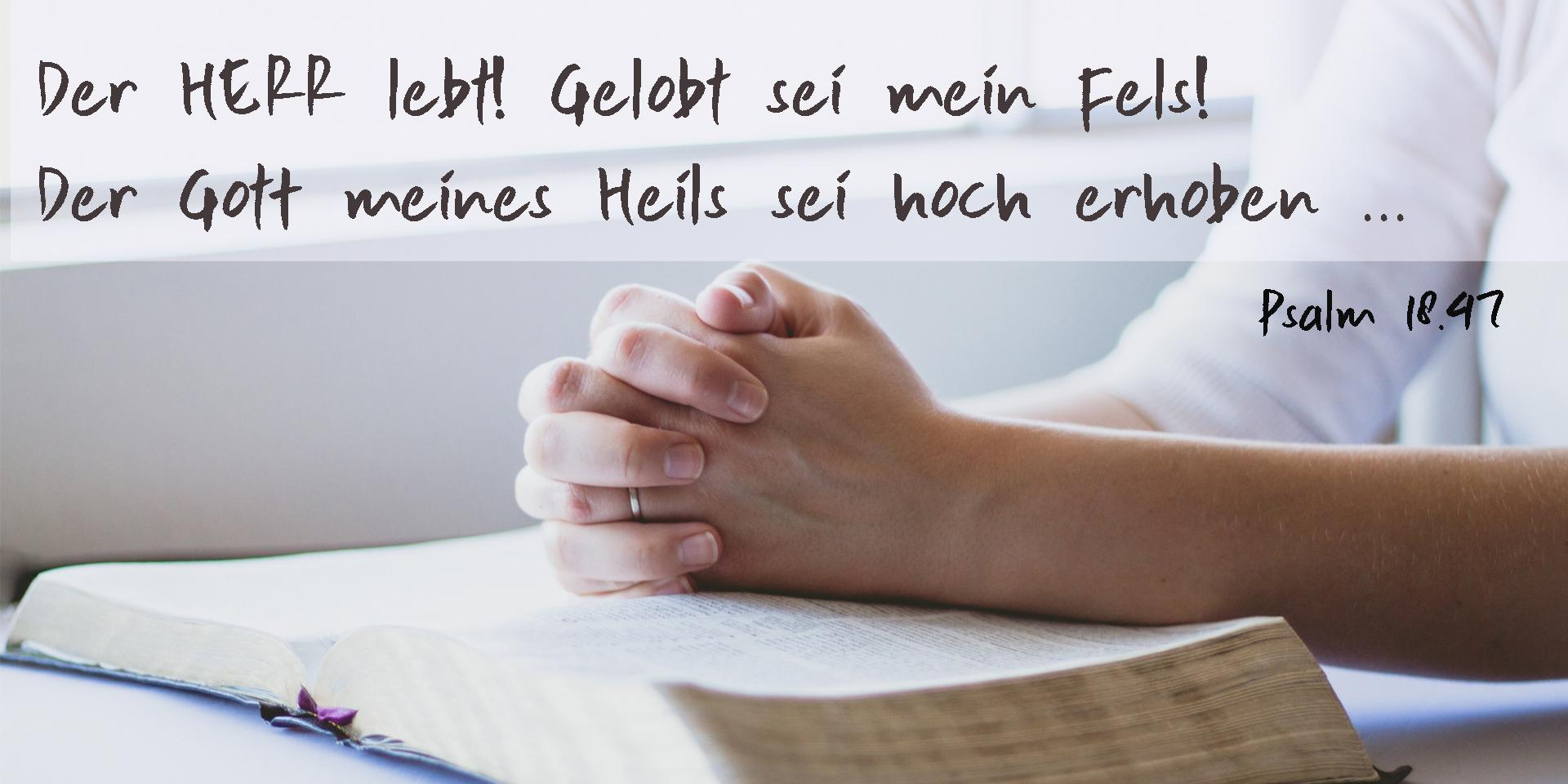 Betende Hände, Psalm 18,41,© pixabay